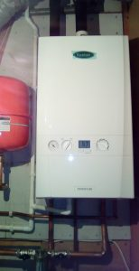 The newly installed Keston System 30 boiler.
